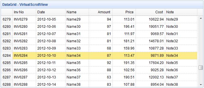 jQuery EasyUI Data Grid - Using the virtual scroll view