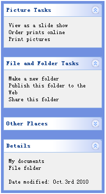 jQuery EasyUI Layout - create XP style left panel